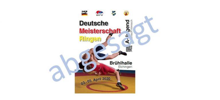 Deutsche A-Jugend Meisterschaft endgültig abgesagt