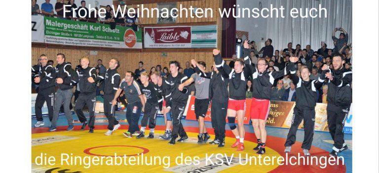 Die Ringer des KSV Unterelchingen sagen Danke und wünschen Frohe Weihnachten